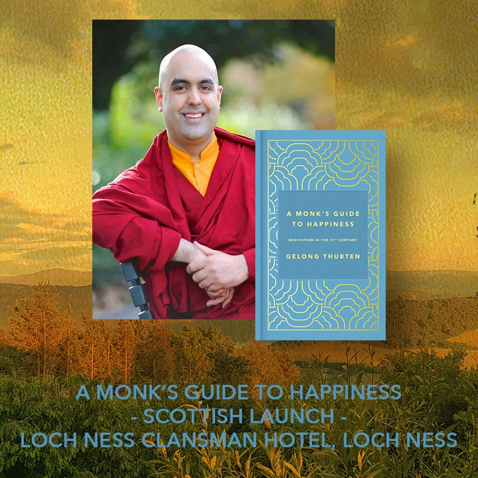 Thubten's Scottish Book Launch